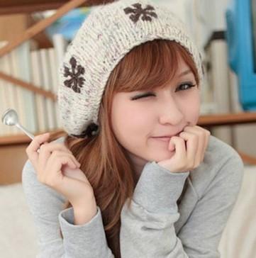 冬季毛线帽子可爱搭配
